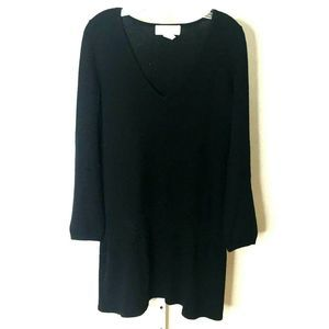 Design History Black Long Sleeve Tunic Cashmere L